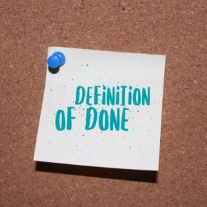 Definition of Done - Agil Projektledelse
